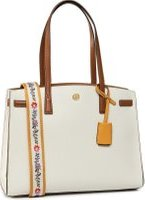 Kabelka Tory Burch Walker Color-Block Satchel 75213 Bílá