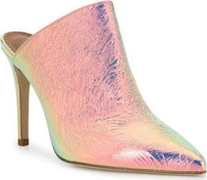 Paris Texas Pantofle PX146 IRIDESCENT SILVE Růžová
