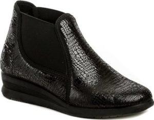 Medi Line Kotníkové boty 5130 černé dámské zdravotní polobotky Černá