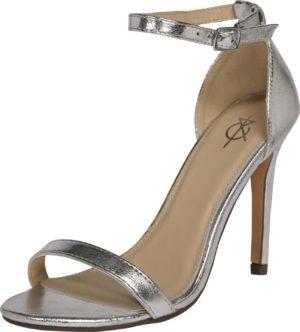 4th & Reckless Sandály 'JASMINE' stříbrná
