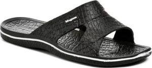 Magnus Pantofle 68-0058-S6 černé pánské plážovky Černá