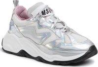 Sneakersy MSGM Scarpa Donna 2742MDS2086 707 90 Stříbrná