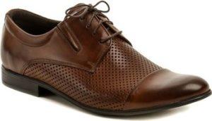Tapi Šněrovací polobotky 4317AD-1 hnědá pánská společenská obuv Hnědá