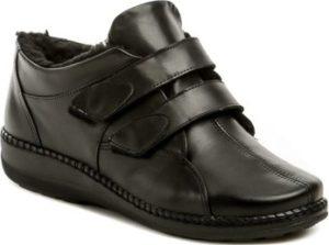 Axel Šněrovací polobotky AXBW007 černé dámské zimní boty šíře H Černá