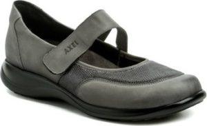 Axel Šněrovací polobotky AXCW062 šedé dámské polobotky boty šíře H