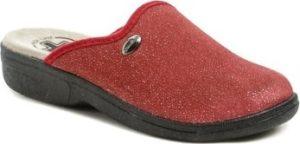 Medi Line Papuče 414 červené dámské zdravotní pantofle Červená