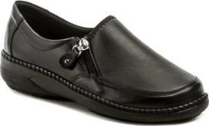Axel Mokasíny AXCW135 černé dámské polobotky boty šíře H Černá