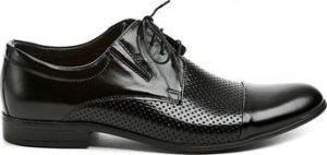 Tapi Šněrovací polobotky 4317AC černá pánská společenská obuv Černá