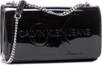 Kabelka Calvin Klein Jeans Convertible Ew Flap Patent K60K607622 Černá