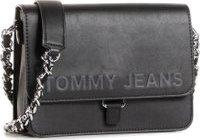 Kabelka Tommy Jeans Tjw Item Flap Crossover AW0AW08678 Černá