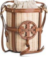 Kabelka Tory Burch Miller Wicker Bucket Bag 55297 Béžová