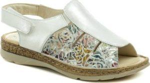 Axel Sandály AX2418 stříbrné dámské zdravotní sandály šíře H Stříbrná